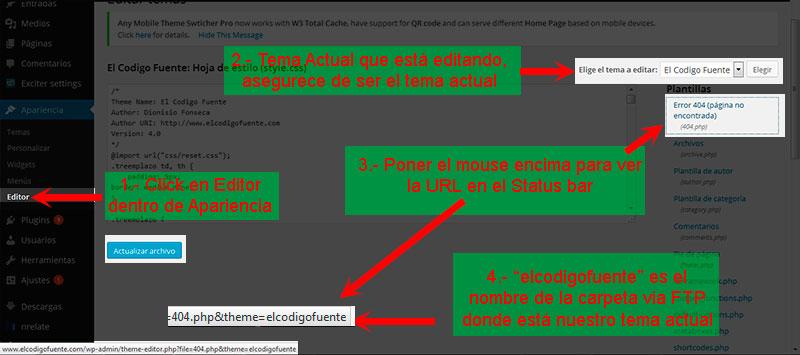 El Codigo Fuente – Como Editar tu Tema WordPress Actual (Plantilla ...